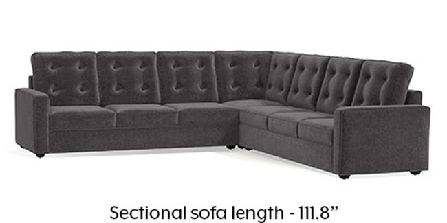 Apollo Sofa Set (Smoke, Fabric Sofa Material, Regular Sofa Size, Soft Cushion Type, Corner Sofa Type, Corner Master Sofa Component, Tufted Back Type, Regular Back Height)