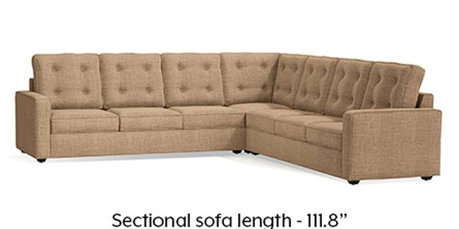 Apollo Sofa Set (Fabric Sofa Material, Regular Sofa Size, Soft Cushion Type, Corner Sofa Type, Corner Master Sofa Component, Sandshell Beige, Tufted Back Type, Regular Back Height)