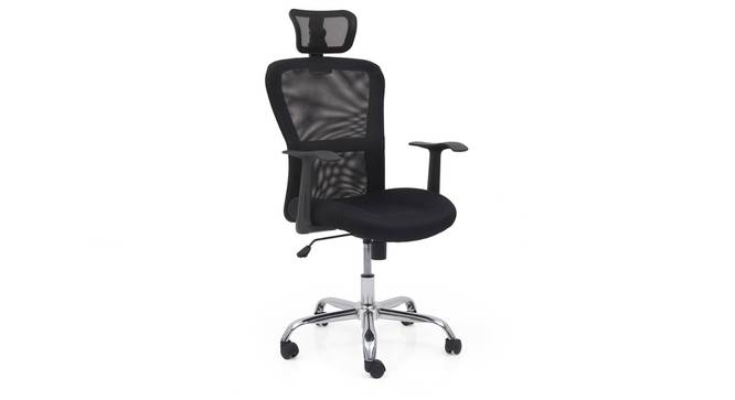 Venturi Study Chair-3 Axis Adjustable (Carbon Black) by Urban Ladder - Front View Design 1 - 25702