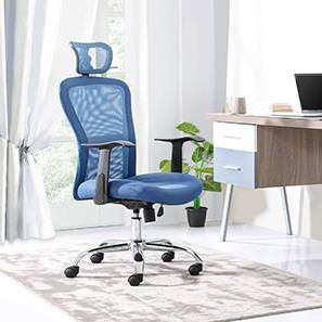 Venturi Study Chair-3 Axis Adjustable (Aqua) by Urban Ladder - - 25714