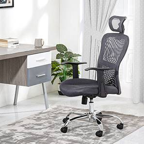 Venturi Study Chair-3 Axis Adjustable (Ash Grey) by Urban Ladder - - 25727