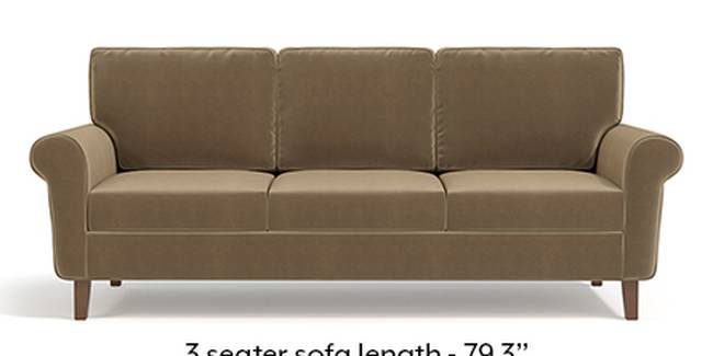 Oxford Sofa (Fabric Sofa Material, Regular Sofa Size, Soft Cushion Type, Regular Sofa Type, Master Sofa Component, Fawn Velvet)