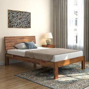 Boston Compact Bed (Teak Finish) by Urban Ladder