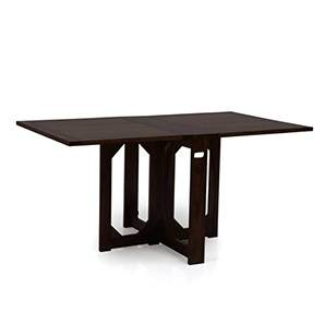 Danton 3 to 6 Folding Dining Table (Mahogany Finish) by Urban Ladder - Front View Design 1 - 258012