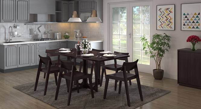 Danton 3 to 6 Folding Dining Table (Mahogany Finish) by Urban Ladder - Design 1 Full View - 258013