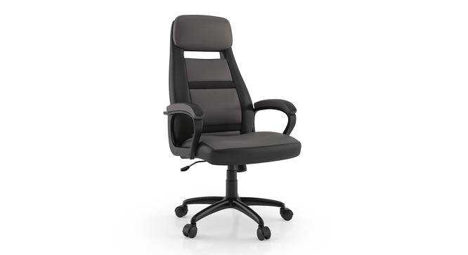 Angela Study Chair (Grey Leatherette) by Urban Ladder