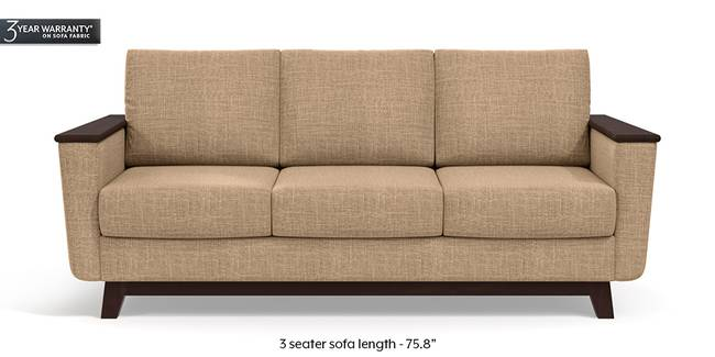 Corby Sofa (Sandshell Beige) (3-seater Custom Set - Sofas, None Standard Set - Sofas, Fabric Sofa Material, Regular Sofa Size, Regular Sofa Type, Sandshell Beige)