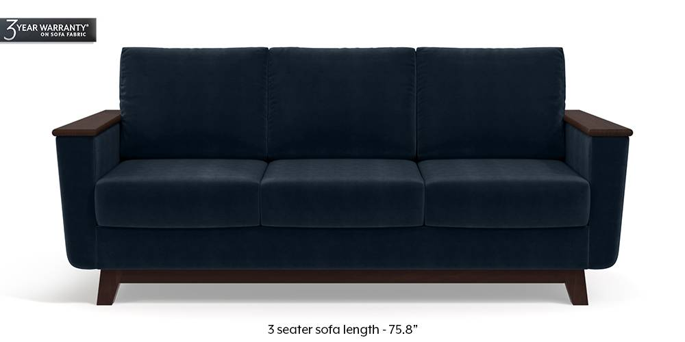 Corby Sofa (Sea Port Blue Velvet) by Urban Ladder