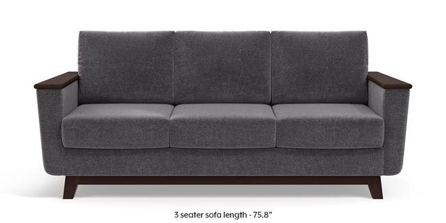 Corby Sofa (Smoke Grey) (3-seater Custom Set - Sofas, None Standard Set - Sofas, Smoke, Fabric Sofa Material, Regular Sofa Size, Regular Sofa Type)
