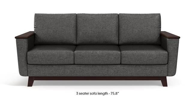 Corby Sofa (Steel Grey) (3-seater Custom Set - Sofas, None Standard Set - Sofas, Steel, Fabric Sofa Material, Regular Sofa Size, Regular Sofa Type)