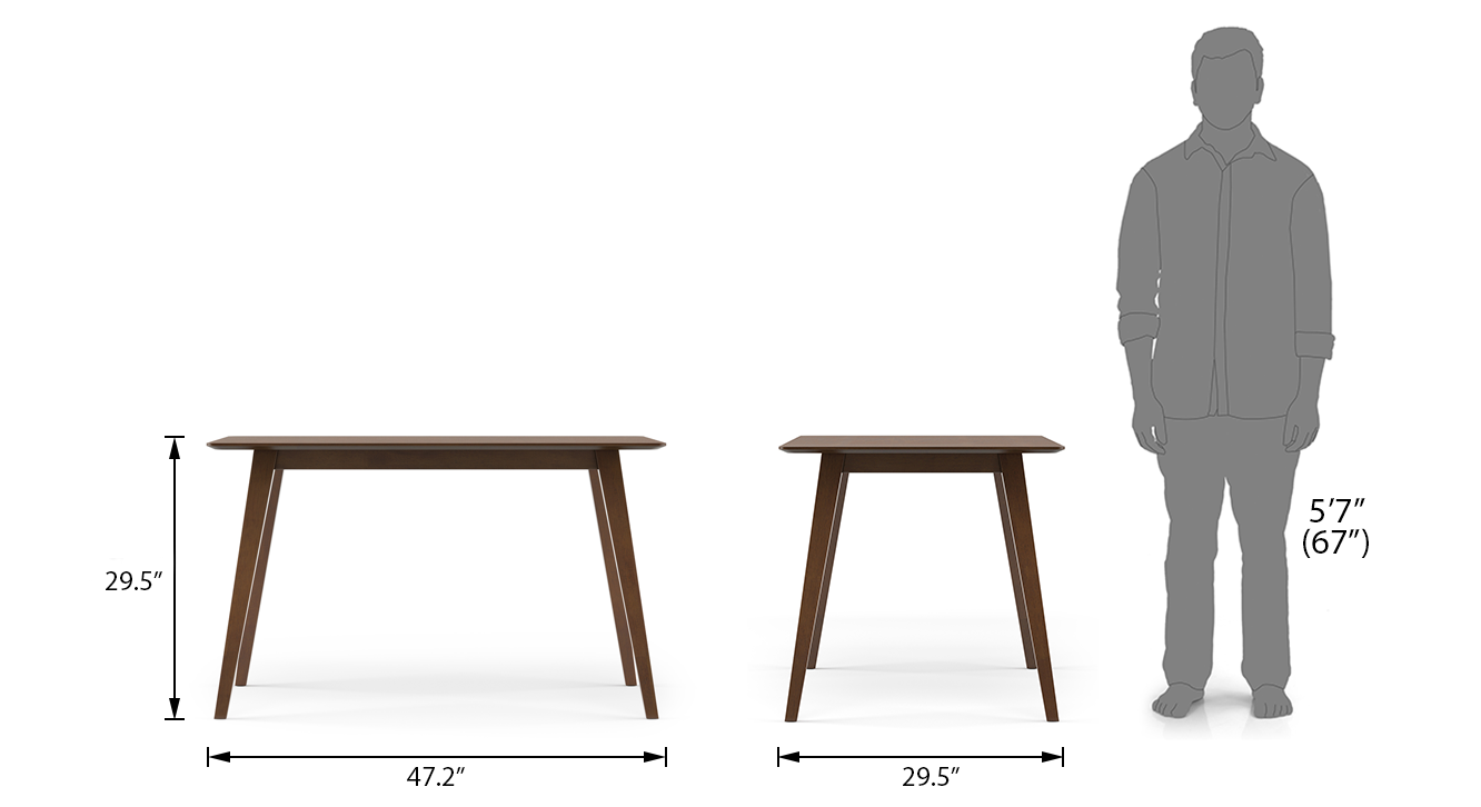 Lawson dining table 4 seater dimension update