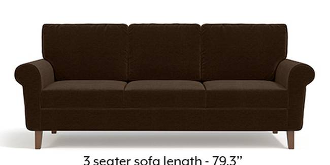 Oxford Sofa (Dark Earth, Fabric Sofa Material, Regular Sofa Size, Soft Cushion Type, Regular Sofa Type, Master Sofa Component)