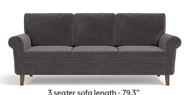 Oxford Sofa (Smoke Grey, Fabric Sofa Material, Regular Sofa Size, Soft Cushion Type, Regular Sofa Type, Master Sofa Component)