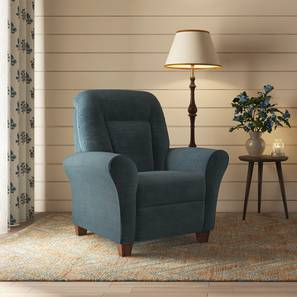 Jarvis Recliner (Blue) by Urban Ladder
