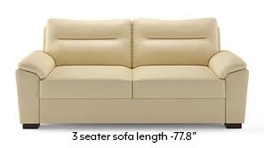 Adelaide Compact Leatherette Sofa (Cream)