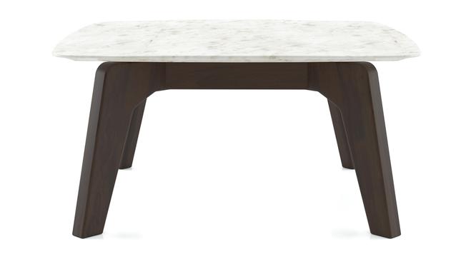 Galatea Marble Square Coffee Table (American Walnut Finish) by Urban Ladder