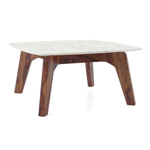 Galatea Marble Square Coffee Table Teak Finish By Urban Ladder