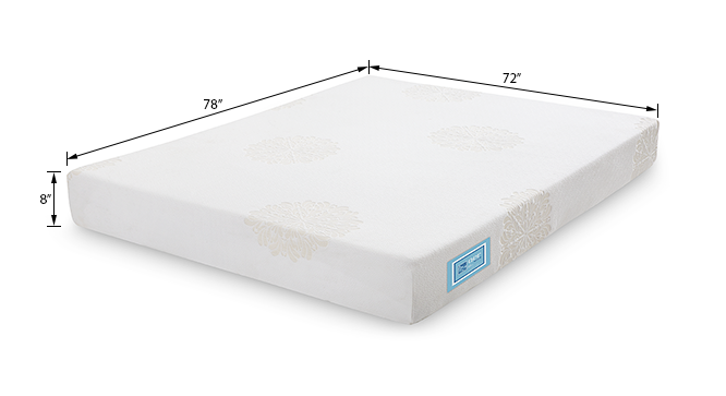 Aer latex mattress with memory foam king 8