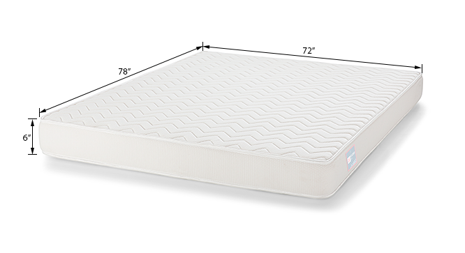 Cloud Pocket Spring Mattress (King Mattress Type, 78 x 72 in (Standard) Mattress Size, 6 in Mattress Thickness (in Inches)) by Urban Ladder