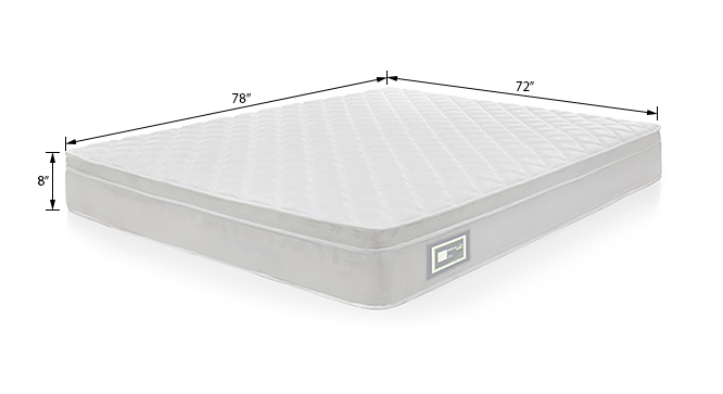Dreamlite Bonnel Spring Mattress with Eurotop (King Mattress Type, 78 x 72 in (Standard) Mattress Size, 8 in Mattress Thickness (in Inches)) by Urban Ladder
