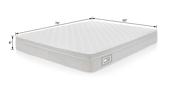 Dreamlite bonnel spring mattress with eurotops queen 8