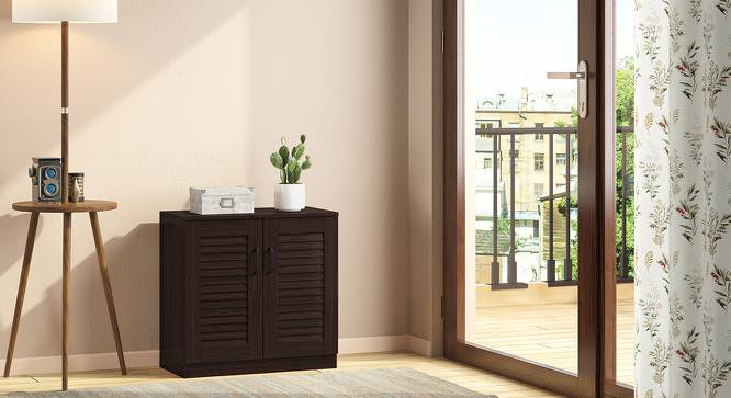 Bennis Shoe Cabinet (Dark Walnut Finish, 9 Pair Capacity) by Urban Ladder - Design 1 Full View - 265684