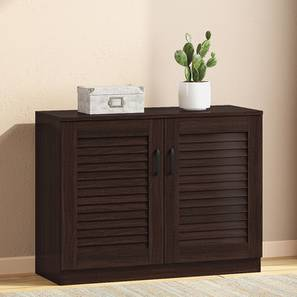 Bennis Shoe Cabinet (Dark Walnut Finish, 12 Pair Capacity) by Urban Ladder - Design 1 Full View - 265694