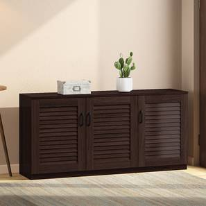 Bennis Shoe Cabinet (Dark Walnut Finish, 18 Pair Capacity) by Urban Ladder - Design 1 Full View - 265703