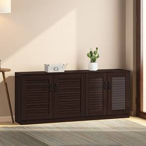 Bennis Shoe Cabinet (Dark Walnut Finish, 21 Pair Capacity) by Urban Ladder - Design 1 Full View - 265713