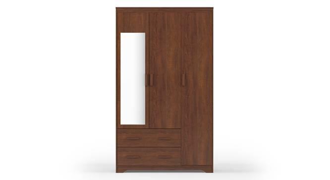 Hilton 3 Door Wardrobe (2 Drawer Configuration, Red Oak Finish) by Urban Ladder