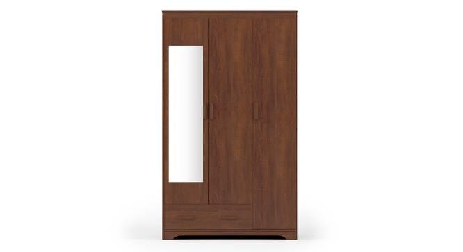 Hilton 3 Door Wardrobe (1 Drawer Configuration, Red Oak Finish) by Urban Ladder