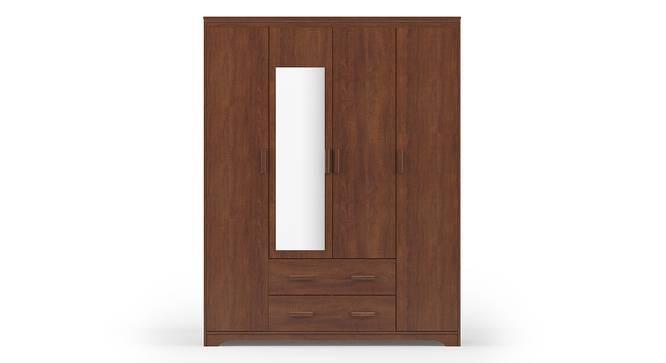 Hilton 4 Door Wardrobe (2 Drawer Configuration, Red Oak Finish) by Urban Ladder