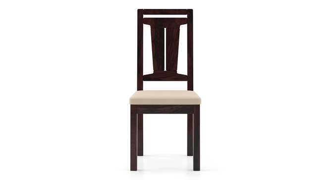 Martha Dining Chairs - Set Of 2 (Mahogany Finish, Wheat Brown) by Urban Ladder - Front View Design 1 - 266013