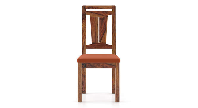 Martha Dining Chairs - Set Of 2 (Teak Finish, Burnt Orange) by Urban Ladder - Front View Design 1 - 266020