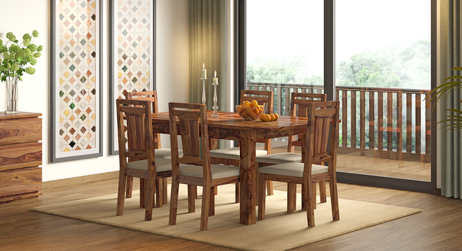 Martha Dining Chairs - Set Of 2 (Teak Finish, Wheat Brown) by Urban Ladder - Design 1 Full View - 266026