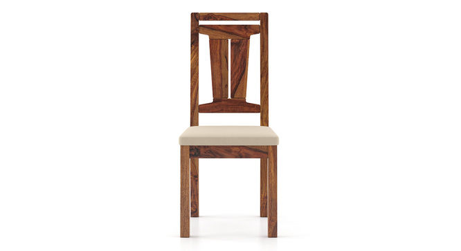 Martha Dining Chairs - Set Of 2 (Teak Finish, Wheat Brown) by Urban Ladder - Front View Design 1 - 266027