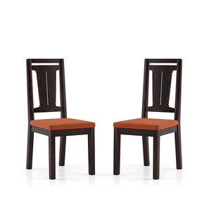 Martha dining chairs mahogany burnt orange lp