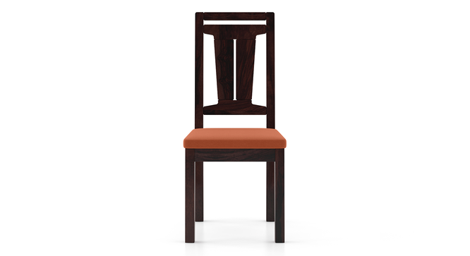 Martha Dining Chairs - Set Of 2 (Mahogany Finish, Burnt Orange) by Urban Ladder