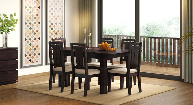 Arabia 4 To 6 Extendable Martha Seater Dining Table Set Mahogany