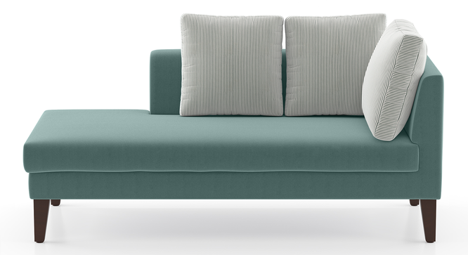 Sigmund Day Bed (Dusty Turquoise Velvet, Left Aligned) by Urban Ladder
