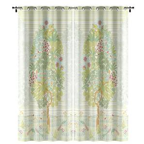 "Tree of Life Door Curtains  (Set of 2) (Multi Colour, 54""x84"" Curtain Size, Oasis Pattern) by Urban Ladder"