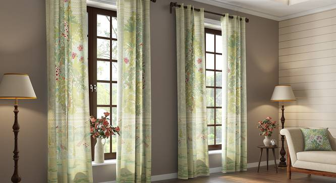 "Tree of Life Door Curtains  (Set of 2) (Multi Colour, 54"" x 108"" Curtain Size, Oasis Pattern) by Urban Ladder"