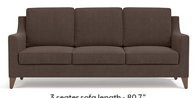 Abbey Sofa (Fabric Sofa Material, Regular Sofa Size, Soft Cushion Type, Regular Sofa Type, Master Sofa Component, Daschund Brown)