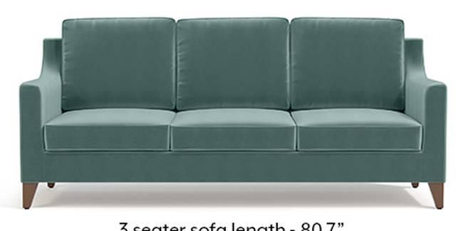 Abbey Sofa (Fabric Sofa Material, Regular Sofa Size, Soft Cushion Type, Regular Sofa Type, Master Sofa Component, Dusty Turquoise Velvet)