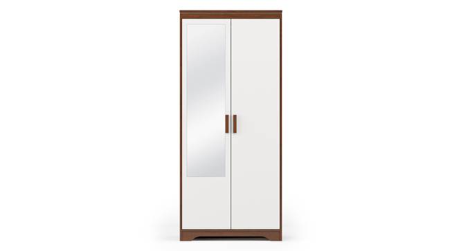 Miller 2 Door Wardrobe (Two-Tone Finish, With Mirror, Without Drawer Configuration, 6 Feet Height) by Urban Ladder