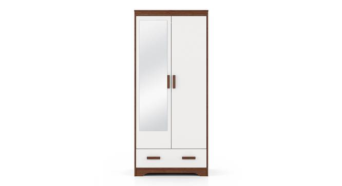 Miller 2 Door Wardrobe (Two-Tone Finish, With Mirror, With Drawer Configuration, 6 Feet Height) by Urban Ladder