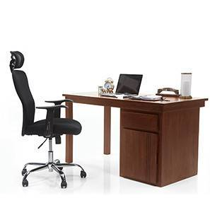 Bradbury - Venturi Study Set (Teak Finish, Carbon Black) by Urban Ladder