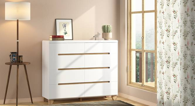Oslo Chest Of Eight Drawers (White Finish) by Urban Ladder