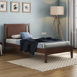 Brandenberg Single Bed (Single Bed Size, Dark Walnut Finish) by Urban Ladder