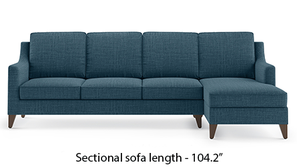 Abbey Sectional Sofa (Colonial Blue)